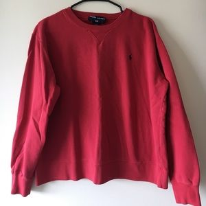 Vintage Red Polo Sport Sweater